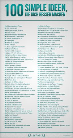 50 simple Tipps, die dich besser machen added to our site. We have prepared tips… – Ideen finanzieren