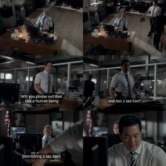 Cho being Cho and there's Rigsby being him♥️ Movies And Series, Best Series, Movies And Tv Shows, Tv Series, Kimball Cho, Patrick Jane, Cop Show, Media Quotes, The Mentalist