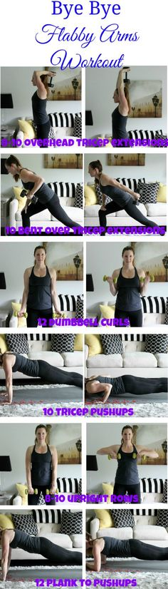 Workout Routines For The Gym : Kiss those bat wings goodbye! This flabby arms workout will have your arms looki. - All Fitness Arm Exercises With Weights, Thigh Exercises, Arm Exercises Flabby, Flabby Arms, Lower Ab Workouts, Workout Challenge, Workout Plans, Workout Tips, Workouts