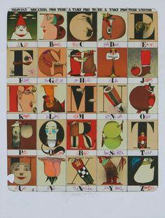 Alfabetieri  Lo splendido alfabetiere di Kveta Pacovska
