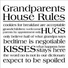 Funny GRANDKIDS Sites | House Rules wall sayings vinyl lettering decal home decor quotes