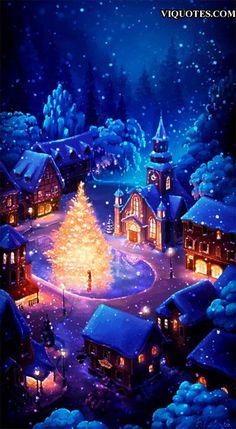 icu ~ Pin on industrial ~ Christmas gif. Christmas tree in centre of village. Merry Christmas Gif, Merry Christmas Pictures, Christmas Scenery, Christmas Landscape, Christmas Is Coming, Christmas Wishes, Christmas Greetings, Winter Christmas, Vintage Christmas