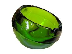 Mid Century Viking Glass Orb Ashtray Offered By Rare Rabbit Gallery.