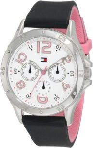 Tommy Hilfiger Women's 1781175 Sport Stainless Steel and black Silicon Sport Watch