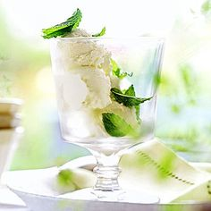 Mint Ice Cream Fresh mint gives this dessert a cool burst of flavor. Add a few grains of salt to the infused cream mixture to bring out additional sweetness.