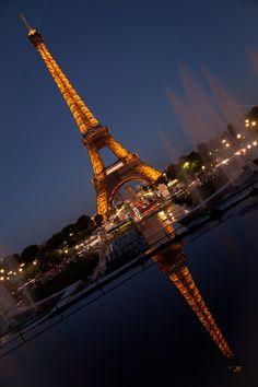 "500px / Photo ""Eiffel Tower at night"" by Maxim Solodov"