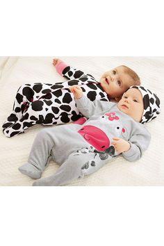 Newborn Sleepwear - Baby Sleepwear and Infantwear - Next Cow Sleepsuits Two Pack - EziBuy Australia
