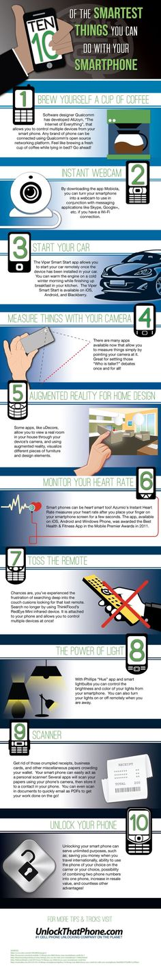 10 Smartest things you can do with Smartphone #Infographics
