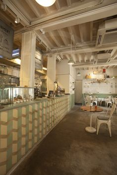 The Pantry used our 3D pattern tiles in a really innovative layout for their counter.