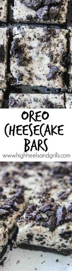 - Intimidated by making cheesecake? Start with these Oreo Cheesecake Bars. They& Intimidated by making cheesecake? Start with these Oreo Cheesecake Bars. They& such an easy dessert! Oreo Cheesecake Bars, How To Make Cheesecake, Oreo Bars, Vegan Cheesecake, Chocolate Cheesecake, Yummy Treats, Sweet Treats, Yummy Food, Köstliche Desserts