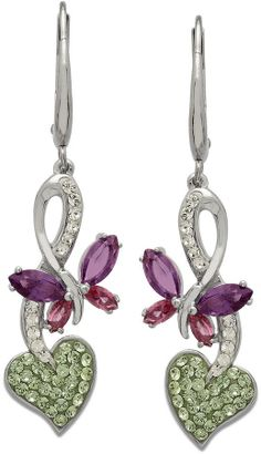 Swarovski Kaleidoscope Crystal Butterfly Drop Earrings in Sterling Silver (2-1/5 ct. t.w.) on shopstyle.co.uk