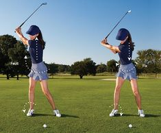 Golf Fashion How to make a better hip coil and improve your golf swing. This is key to turning better in the backswing. Learn this and more great golf tips for improving your golf swing. Ladies Golf Clubs, Used Golf Clubs, Golf Cart Accessories, Golf Putting Tips, Golf Club Sets, Golf Instruction, Golf Exercises, Golf Tips For Beginners, Golf Training
