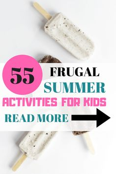 Do you need some summer activities for kids? Here is a list of 55 fun summer activities that are frugal or free for preschoolers and lower elementary Summer Activities For Kids, Activities To Do, Toddler Activities, Crafts For Kids, Summer Crafts, Kids Fun, Outdoor Activities, Ways To Save Money, How To Make Money