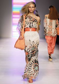 4. Pucci ; Decorative flared skirt with colorful band