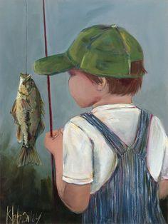 Lil Fisher Boy Canvas Wall Art