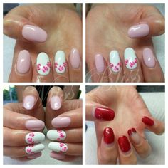 Floral Gel Nails by Miss Bliss Nails and Education Christchurch