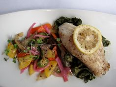 The only GOOD Lionfish is served w/ Mango Salad - mmm mmmm GOOD!