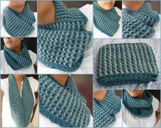 "The New #Crochet Cowl Scarves: Easy Style: Crochet ""Brioche"" Stitch Cowl (free pattern)"