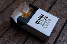 French fry packaging by Kiss Miklos for Trafiq, a club/ restaurant/ bar... LOVE!