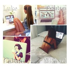 """""""You On Your Laptop!"""" by x5sosxpreferencesx ❤ liked on Polyvore featuring art"""
