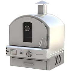 Pacific Living PL8304SS Natural Gas Stainless Steel Built-In / Counter Top Outdoor Pizza Oven (Ships As Propane With Natural Gas...