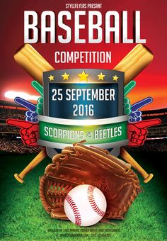 Free baseball psd flyer template is waiting for you! Download it right now! #baseball #sport #competition #event #ball