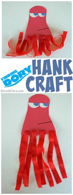 Check out this easy Finding Dory craft. Make your own Hank the Octopus craft with just a few steps. Perfect for a Finding Dory party or ocean themed party activity.