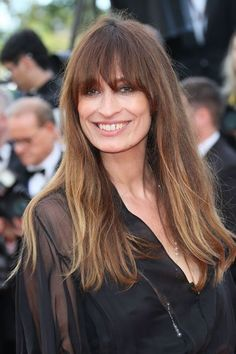 The Best Beauty Looks From Cannes #refinery29  http://www.refinery29.com/2016/05/110653/cannes-beauty-looks-2016#slide-6  Caroline De MaigretWhy is Caroline de Maigret smiling so widely? Maybe it's because she knows that with wind-swept bangs, a smoky eye, and seemingly naked lips, this photo will never look dated....