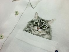 Embroidered Cat Pockets!