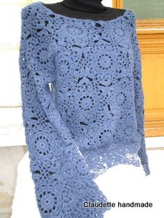 Bluza dantelata, by Claudette-handmade, 200 Lei Crochet Projects, Lace Shorts, Knit Crochet, Urban, Knitting, Handmade, Tops, Women, Fashion