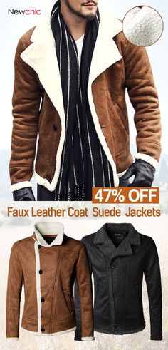 916132b0425d Retro Faux Leather Coat  jacket  mensfashion  outdoor Men s Coats And  Jackets, Winter