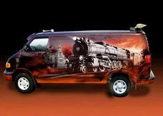 Dodge Van, Chevy Van, Custom Paint Jobs, Custom Vans, Air Brush Painting, Car Painting, Station Wagon, Vans Usa, Vehicle Signage