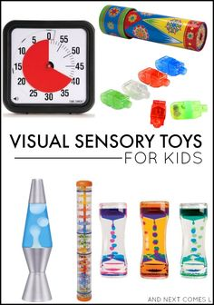 Visual sensory toys & tools for kids - great for kids with autism and/or sensory processing issues from And Next Comes L