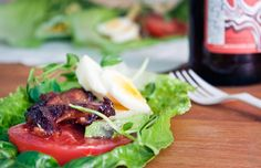 Healthy Low-Carb BLT Recipe Celebrate National BLT Sandwich Month with this healthier take on the beloved bacon sandwich that goes easy on the carbs. Blt Recipes, Cabbage Recipes, Detox Recipes, Healthy Dinner Recipes, Healthy Snacks, Healthy Eating, Cooking Recipes, Baked Cabbage Steaks, Recetas Whole30