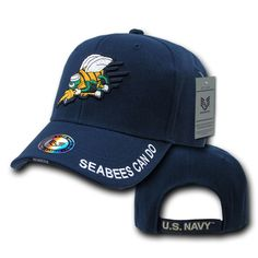 NAVAL FLIGHT OFFICER MILITARY Embroidery Embroidered Adjustable Hat Baseball Ca