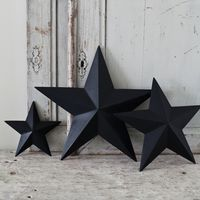 Three Dark Gesso Wooden Stars - always accessorize in 3's