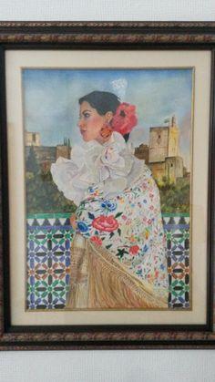 Obra de pablo López Muñoz. Lápices de colores sobre Guarro.