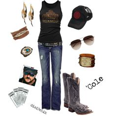 Outfit for Eric church concert! Country Music Outfits, Country Concert Outfit, Country Concerts, Country Girl Style, Country Fashion, Country Girls, Country Wear, Country Casual, Jessie James