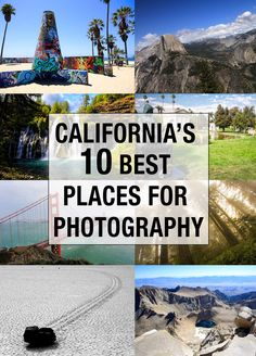This list shows 10 of the best spots for photography in the state of California. Everything ranging from the Eastern Sierras to the roads of Los Angeles are included.