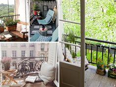 Zonas de relax y lectura para #balcones estrechos