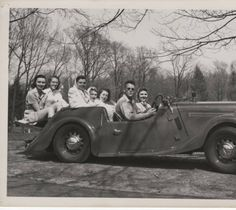 Students take a drive, ca. Digital Image, 1940s, Archive, Students, Take That, Teenagers, Fun, Collections, Vintage