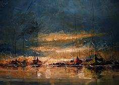 Masterful Textured Oil Paintings of Ships at Sea