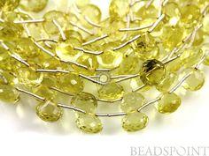 Natural '' NO TREATMENT'' Lemon Topaz Small Micro by Beadspoint, $22.95