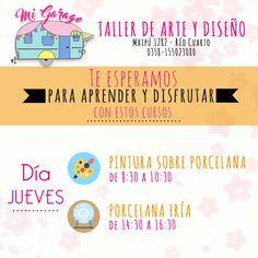 Mi Garage - Taller de Arte y Diseño Nos encontrás en Maipú 1278 - Río Cuarto T.E 0358-155023080. #MiGarage #RioCuarto #deco #hogar #cursos #costura #bordado #home #love #taller #arte #diseño #pastapiedra #corteyconfección #mosaiquismo