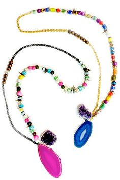 Lust List: Shake It Up With Beaded Jewelry  #refinery29  http://www.refinery29.com/lust-list-shake-it-up-with-beaded-jewelry#slide-4  Assad Mounser Rambler Long Necklace, $270, available at Charm and Chain.