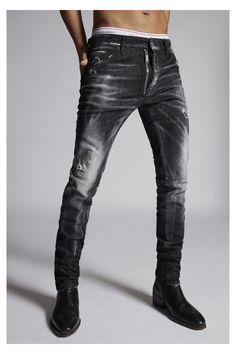 Grey Skinny Jeans Outfit, Ripped Jeans Style, Grey Jeans Men, Black Denim Jeans, Men's Jeans, Jeans For Men, Denim Fashion, Fashion Pants, Curvy Fashion