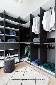 Walking Closet, Room Design Bedroom, Home Room Design, Closet Designs, Modern House Design, House Rooms, Home And Living, Room Inspiration, New Homes