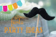 Fiesta Party Ideas  (how cool would these be with the big hats for a DIY photo booth!?!?!)