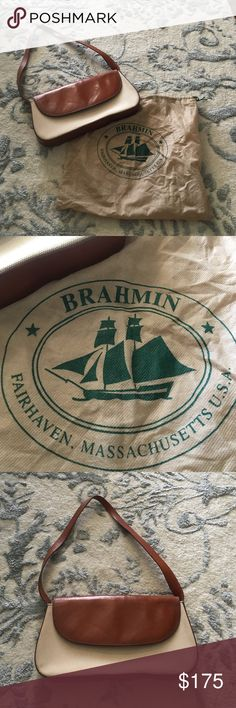 Authentic Brahmin Shoulder Tote Authentic Brahmin Shoulder Purchase!! Comes with dust bag!! It is in mint condition, no stains on the outside or inside lining! No smell either!! Brahmin Bags Shoulder Bags
