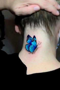Cute Hand Tattoos, Hand Tattoos For Guys, Tattoos For Lovers, Tattoos For Daughters, Pretty Tattoos, Beautiful Tattoos, Body Art Tattoos, Realistic Butterfly Tattoo, Butterfly Wrist Tattoo